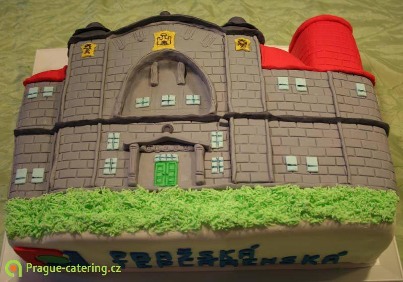 Company cakes | Corporate ocassion cakes | Custom Cakes | Cakes with company logo | prague-catering.cz